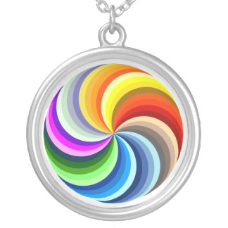 Vibrant Swirls Silver Plated Necklace