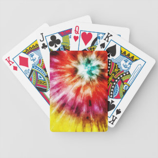 Vibrant Tie Dye Abstract Bicycle Playing Cards