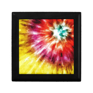 Vibrant Tie Dye Abstract Jewelry Boxes