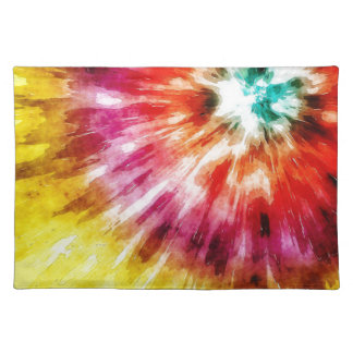 Vibrant Tie Dye Abstract Placemat