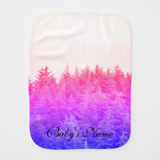 Vibrant Trees Burp Cloth
