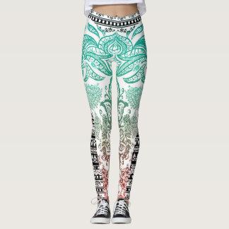 Vibrant Tribal Print Leggings