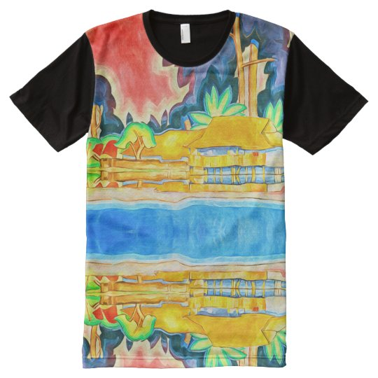 Vibrant Tropical Colours for Island Theme All-Over-Print T-Shirt