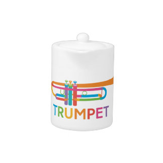 Vibrant Trumpet in Rainbow Colors