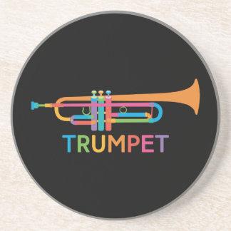 Vibrant Trumpet in Rainbow Colors Coaster