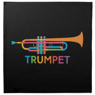 Vibrant Trumpet in Rainbow Colors Napkin