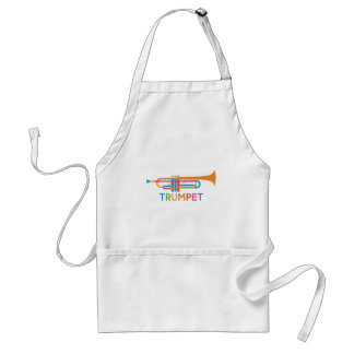 Vibrant Trumpet in Rainbow Colors Standard Apron