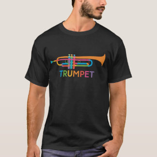 Vibrant Trumpet in Rainbow Colors T-Shirt