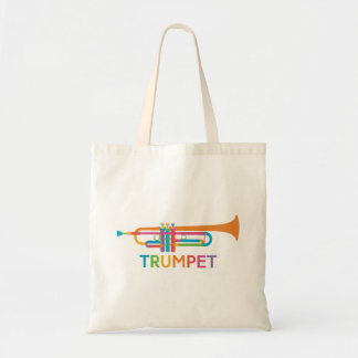 Vibrant Trumpet in Rainbow Colors Tote Bag