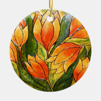 VIBRANT TULIPS CERAMIC ORNAMENT
