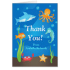 Vibrant Under the Sea Baby Shower Thank You Card