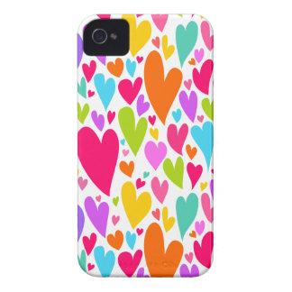Vibrant Valentine's hearts iPhone 4/4S Case