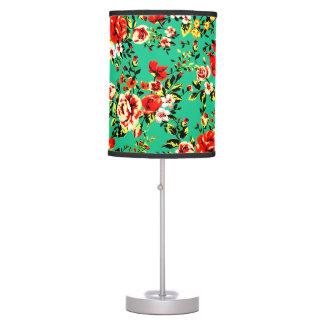 VIBRANT VINTAGE FLORAL TABLE LAMP