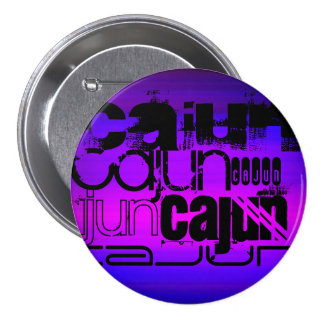 Vibrant Violet Blue and Magenta 3 Inch Round Button
