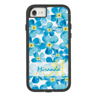 Vibrant watercolor blue forget me not flowers name Case-Mate tough extreme iPhone 8/7 case