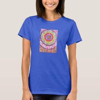 Vibrant watercolor mandala design with ethnic vibe T-Shirt