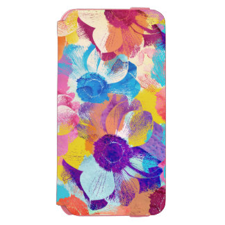 Vibrant Watercolor Painted Anemone Flower Incipio Watson™ iPhone 6 Wallet Case