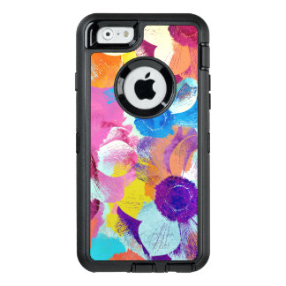 Vibrant Watercolor Painted Anemone Flower OtterBox Defender iPhone Case