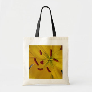 Vibrant Yellow Lily Tote Bag