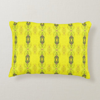 Vibrant Yellow Seamless Pattern Decorative Pillow