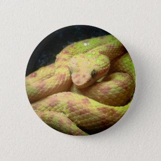 Vibrant Yellow Viper 2 Inch Round Button