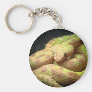 Vibrant Yellow Viper Keychain