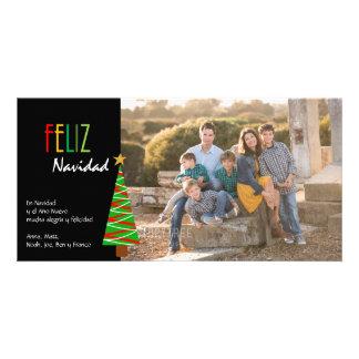 Vibrante Feliz Navidad Foto Christmas Card