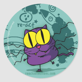 Vic, the genius kitty round sticker