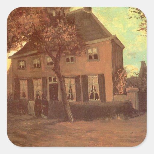 Vicarage Nuenen, van Gogh, Vintage Impressionism Sticker