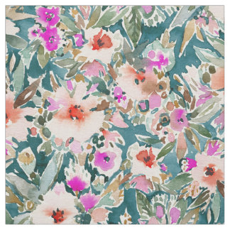VICARIOUS VACATION Lush Tropical Floral Fabric
