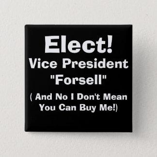 Vice President 2 Inch Square Button
