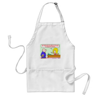 vice president unwelcome visitors apron