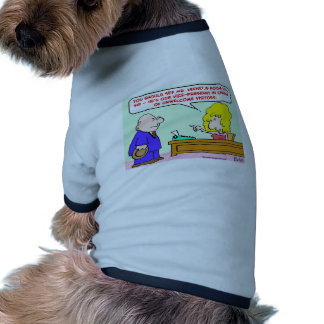 vice president unwelcome visitors doggie tee shirt