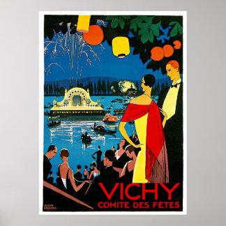 Vichy, comite des fetes Vintage Travel Poster