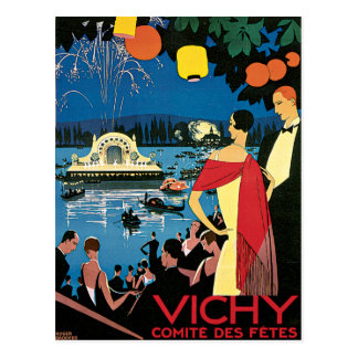 Vichy France Comite Des Fetes Art 1926 Nightlight Postcard