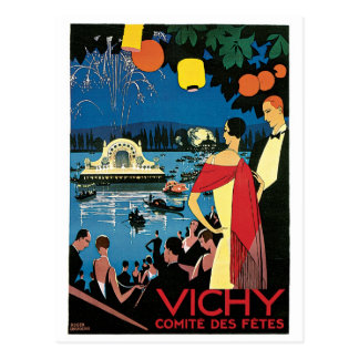 Vichy Vintage French Travel Poster Postcard