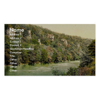 Vicinity of Seven Sisters' Rocks, River Wye, Monmo Business Card Templates