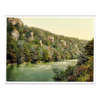 Vicinity of Seven Sisters' Rocks, River Wye, Monmo Postcard