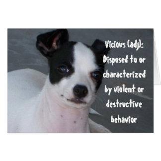 Vicious, Chihuahua (blank) Greeting Card