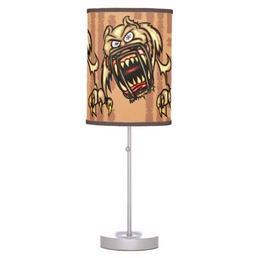 Vicious Dog Attack Desk Lamps