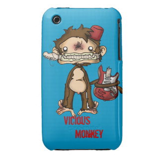 Vicious Monkey Iphone Case iPhone 3 Cover