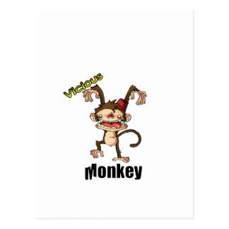 Vicious Monkey Postcard