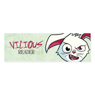 """Vicious Reader"" Mini Bookmarks Business Card"