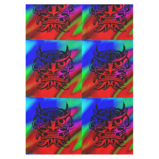 Vicious Tribal Mask Black rainbow 003 Tablecloth