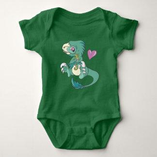 Vicious Velociraptor! Baby Bodysuit