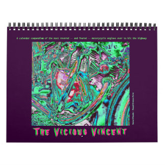 Vicious Vincent Motorcycle Engine 2014 Calendars