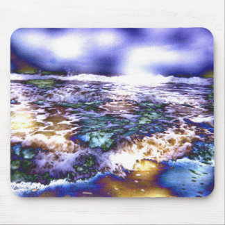 Vicious Waves with Difference of Clouds Mouse Pad