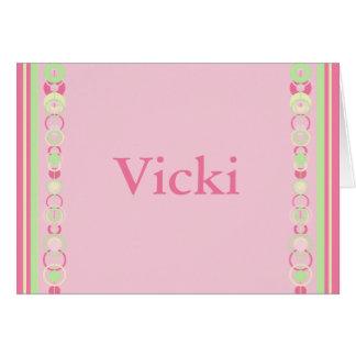 Vicki Pink Modern Circles Card