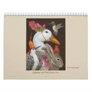Vicki Sawyer Art calendar for 2018