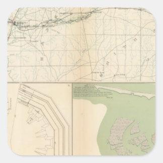 Vicksburg Meridian, Miss Square Sticker